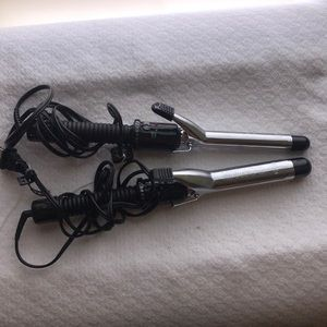 Conair 2 set curling irons used once 3/4 & 1 in